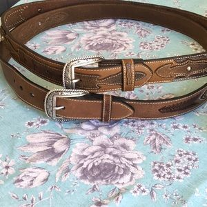Ariat western detailed leather belts